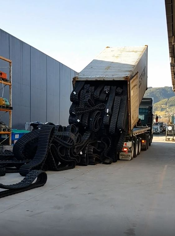 WATCH: 20 tons of tracks arriving